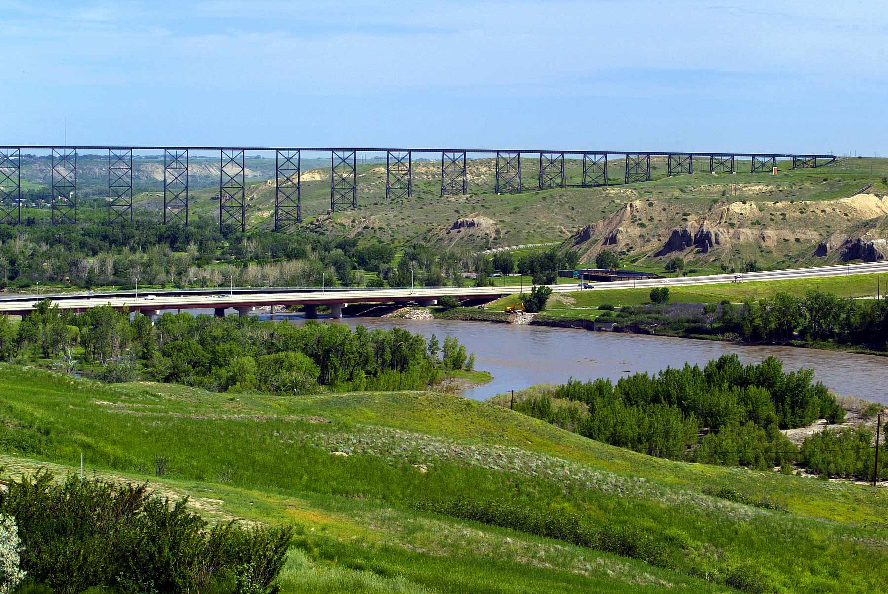 High Level Train Bridge over coulee